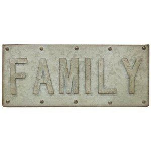 """Family Galvanized 14"""" Riveted Sign"""